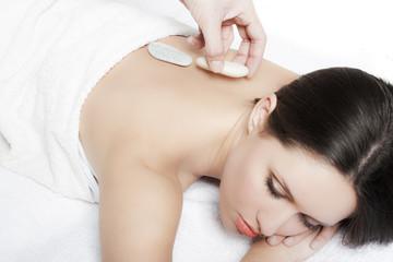 Girl getting spa treatment