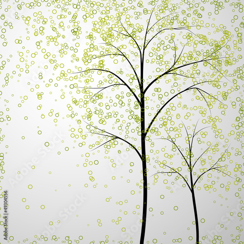 spring trees background