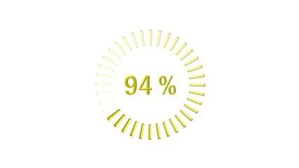 Chargement : 0-100% - doré