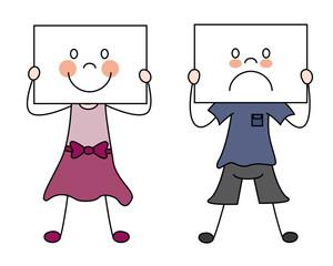 Niños mostrando sus emociones