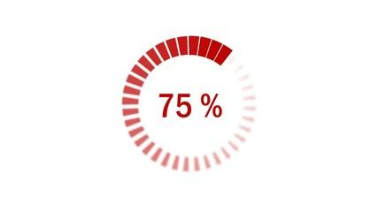 Chargement : 0-100% - dégradé - rouge