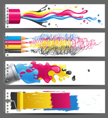 CMYK banners