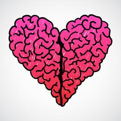 Vector Doodle Brain Heart