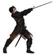 Dark Warrior with Sword