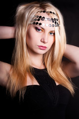 Girl With a garland on her head