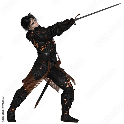 Dark Warrior with Sword