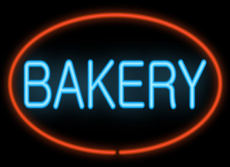 Bakery neon sign.