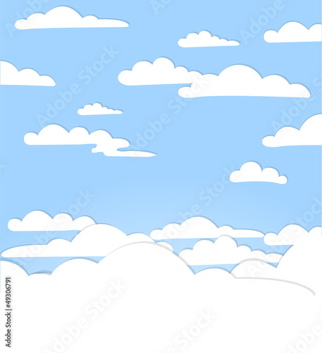Aluminium Hemel Good weather background. Blue sky with clouds