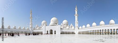 Fotobehang Dubai Abu Dhabi Sheikh Zayed Mosque