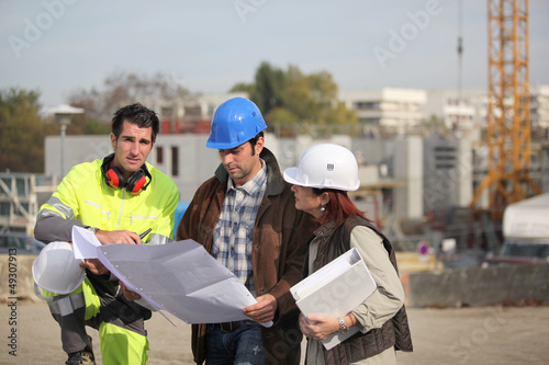 Team on construction site