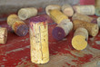wine cork of a red wine of the famous season 1961