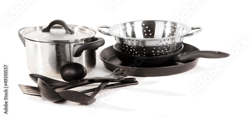 kitchen tools isolated on white