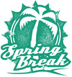 Spring Break Vacation Stamp