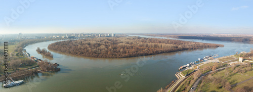 Belgrade, Great War Island, aerial view