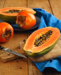 Papaya and persimon