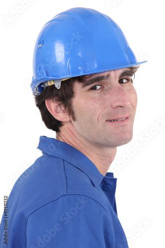A portrait of construction worker.