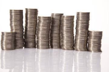 Financial success concept, Coins diagram