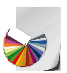 Color guide spectrum swatch and blank paper