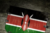 FLAG OF KENYA ON WOOD