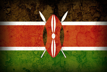 FLAG OF KENYA WITH TEXTURE