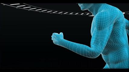 Simulated human running between circle dials