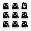 Shopping bag vector icons set