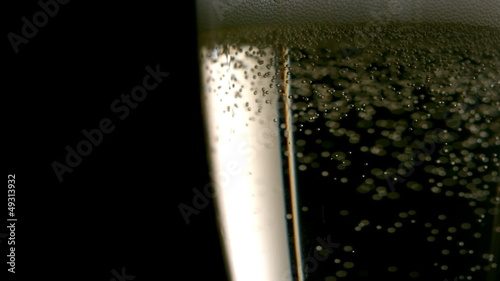 Bubbles rising in champagne