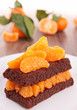 chocolate cake with clementine