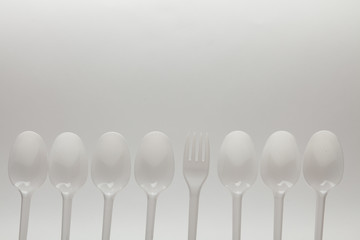 number of disposable spoons and fork