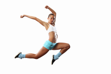 Image of sport woman jumping