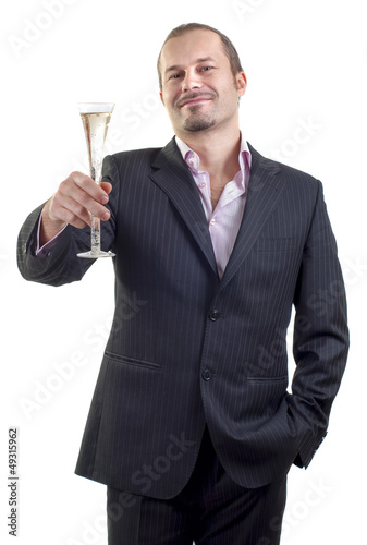 man with glass