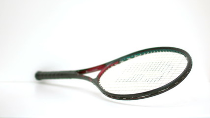 Racket falling on the floor