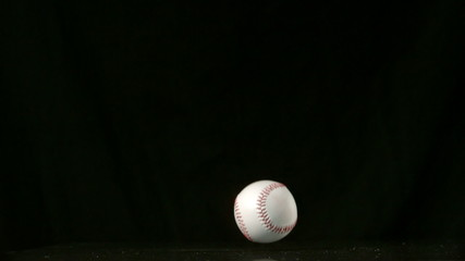 Baseball falling and bouncing