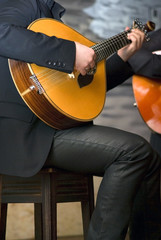 Close up of a traditional portuguese guitar