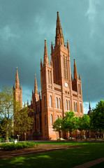 City Hall and Marktkirche in Wiesbaden, Germany