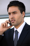 Businessman using a cellphone