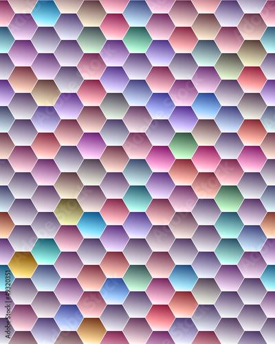 color hexagon seamless texture