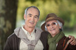 Elderly couple on an autumnal walk
