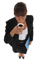 Businesswoman drinking a cup of coffee