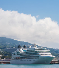 Large cruise liner in the Yalta. Ukraine
