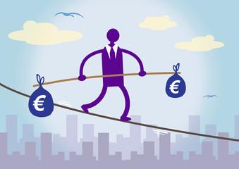 Financial Balancing Euro