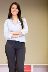 Confident saleswoman