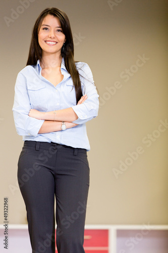 Confident saleswoman