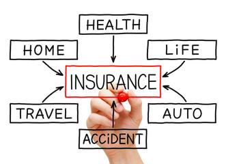Insurance Flow Chart Hand