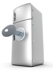 Verschlossener Kühlschrank