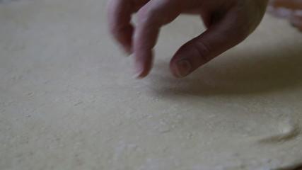 dough kneading hands