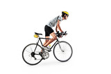 Male bicyclist riding a bike