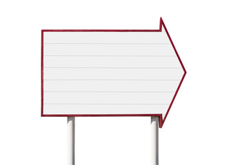 Giant Blank Arrow Sign