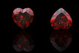 Heart shape gemstone. Collections of jewelry gems poster