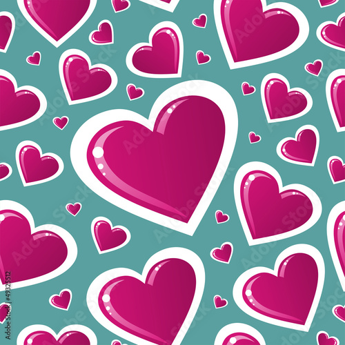 Valentine pink love heart pattern